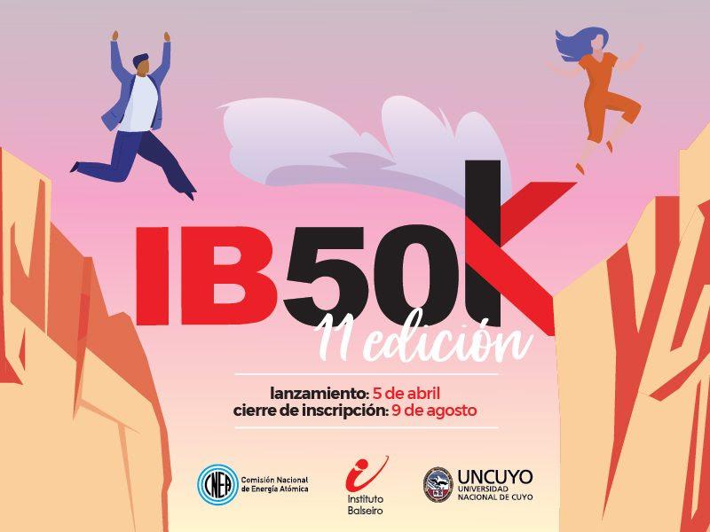 Afiche del concurso IB50K, la información del mismo se encuentra en la noticia.